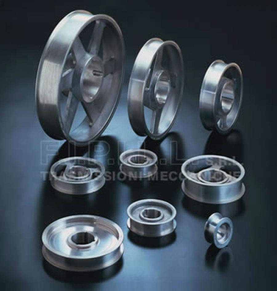 Flat Belt Flanged Pulleys with Bore for Taper-Lock Bush