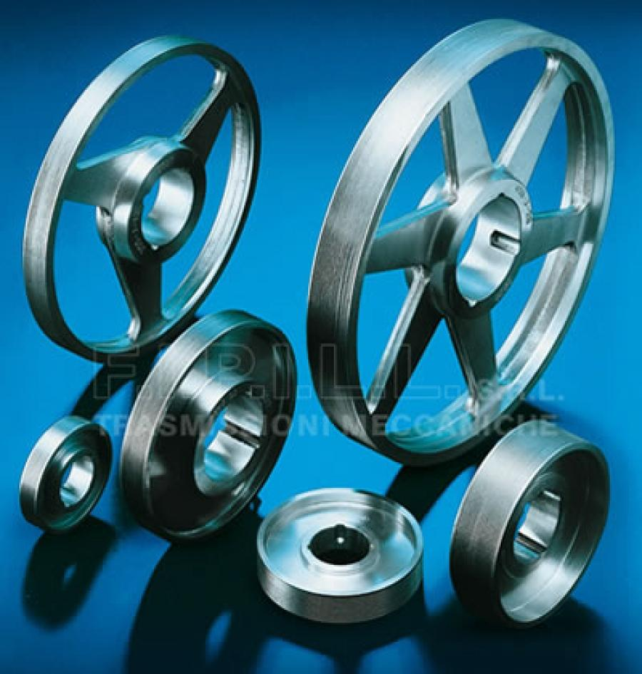 Aluminium POLY-V Pulleys with Bore for Taper-Lock Bush